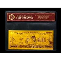 Wholesale Gold crafts American One Billion gold foil banknote for gift from china suppliers