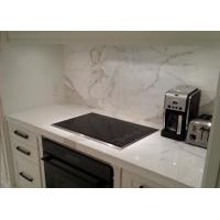 Wholesale White Kitchen Marble Countertops And Backsplash , Huge Marble Tile Countertops from china suppliers