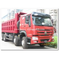 CNHTChowo DUMP TRUCK  Manual Transmission Type and Diesel Fuel Type 8X4 red color