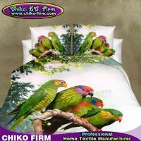 New 100% Polyester Parrot Printed Queen King Size 3D Bedding Sets
