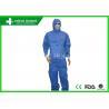 Factory Uniform Disposable Protective Coverall / Blue Disposable Chemical Suit
