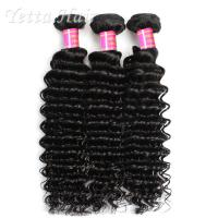 Wholesale Deep Wave Cambodian Grade 6A Virgin Hair  Natural Black  No Terrible Smell from china suppliers