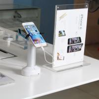 Wholesale COMER security alarm display stand holder for mobile phone with cable built in from china suppliers