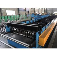 China Building Material Metal Floor Decking Sheet Roll Forming Machine With Embossing Roller on sale