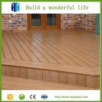 Wholesale High quality eco waterproof wpc crack-resistant decking price list from china suppliers