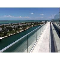 Wholesale Exterior Aluminum U base channel tempered glass railing from china suppliers