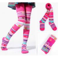 Wholesale Eco - Friendly Children's Cotton Tights , Lovely Rainbow Striped Tights from china suppliers