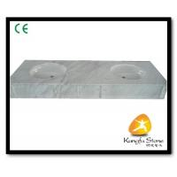 China Xiamen Kungfu Stone Ltd supply White Marble Bathroom Countertops In High quality on sale