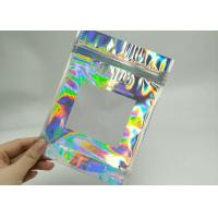 Buy cheap Holographic Lase Plastic Sealed Bags 8 * 15CM Size For Eyelash Brush RB-015 from wholesalers