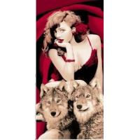 Wholesale 100% Cotton Beach Towel with Beauty and The Beast Pattern Me-B455b from china suppliers