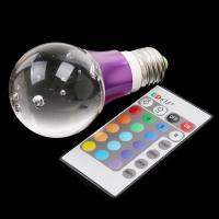Wholesale AC85~265V 3W E27 Flash RGB remote controlled  LED Crystal Light Bulb from china suppliers