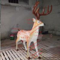 Wholesale large mascots  elk sculptures statues of fiberglass nature painting as party event decoration from china suppliers