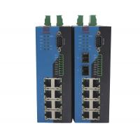 China Managed Serial Ethernet Switch / Serial Port Switch DIN Rail Mounted on sale