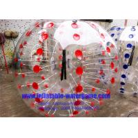 China Professional Inflatable Body Bumper Ball Customized With Red / Blue Dots on sale