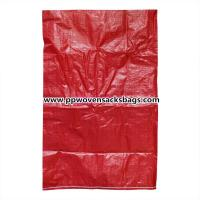 Wholesale Customized Red PP Woven Bags / 25kg PP Sacks for Packing Plastic Pellets / Food / Chemical from china suppliers