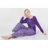 Wholesale Fashionable Violet Womens Pyjama Sets Long Sleeve Top Australian Design from china suppliers