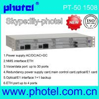 Buy cheap 30 channels PCM mux with voice FXS FXO E&M from wholesalers