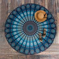 Buy cheap Round Beach Throw Tapestry Hippy Boho Gypsy Cotton Tablecloth Beach Towel from Wholesalers