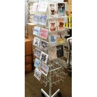 China Cds Floor Spinner Display Rack Metal Multi - Layer Greeating Card Display Rack on sale