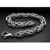 Adjustable Silver Stainless Steel Bangle Bracelets With Double Bone Charms Link