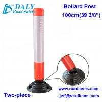 Buy cheap 100cm reflective bollard,road bollards,road delineators,road marker,road sign post,safety bollards,safety markers from Wholesalers