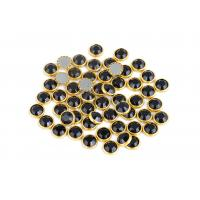 Wholesale Bright Hotfix Glass Rhinestones , 10mm Decorative Rhinestones With Rim from china suppliers