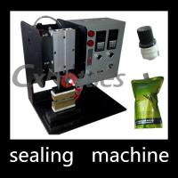 China Durable Stand Up Pouch Sealing Machine / Plastic Spout Sealing Machine 4.9*0.6mm Inner Size on sale