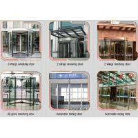 Wholesale Glass holder Automatic Glass Sliding Doors With Aluminum Alloy Material W 800mm from china suppliers