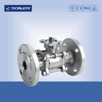 Wholesale JIS-Flanged Sanitary Ball Valve ,  3 PCS Ball valve With flange Connection from china suppliers
