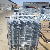 China Iron Tube Metal Fence Posts Hot Dipped Galvanizing Fence Panel 150mm Wing Width on sale