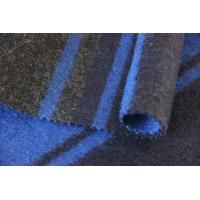 Wholesale Grey Blue Navy Stripe Knit Jacquard 100% Merino Wool Fabric For Jackets from china suppliers