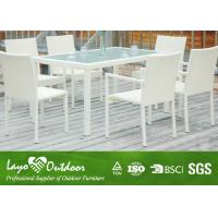 Aluminium Outdoor Dining Settings White 8 Person Patio Dining Set Moisture - Proof Feature