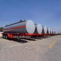 Wholesale chemical liquid tank truck trailer chemical transport tanker trailer semi tankers for sale from china suppliers
