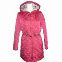Wholesale Women's Padded Jackets, 3m Thinsulate Insulation Material, Striped Tape Belt, OEM Orders are Welcome from china suppliers