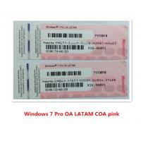Wholesale 64bit Windows Product Key Sticker Microsoft Windows 7 OA LATAM COA from china suppliers