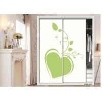 China Glass Effect Bedroom Wardrobe Waterproof Interior Sliding Door With E1 Glue on sale