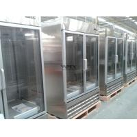 Wholesale Upright glass front beverage refrigerator 1200L , double door commercial refrigerator from china suppliers