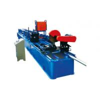 Drain Rain Round Downspout Roll Forming Machine 0.4 - 0.7mm Thickness With Elbow