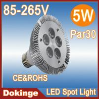 Wholesale high power cool white 85-265V 2500~7500k 5w dimmable par30 led spotlights from china suppliers