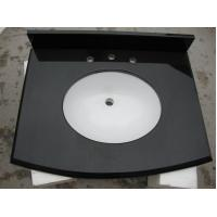 Quality Absolute Black Solid Granite Worktops Different Edge / Thickness Optional for sale