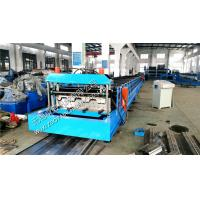 Wholesale Corrugated Sheet Metal Deck Roll Forming Machine With Hydraulic Cutting System, 22KW Motor Power from china suppliers