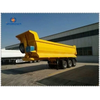 Wholesale HOWO 371 420 2 Axle 50t 100t Semi Dump Trailer from china suppliers