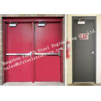 China Residential Steel Fire Resistant Industrial Garage Doors With Remote Control on sale