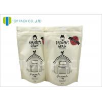 Buy cheap Recyclable Printed Stand Up Bags , 500g Zipper Stand Up Food Matte Window from Wholesalers