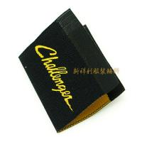Damask Woven Clothing Labels With Centerfold , Woven Name Tags For Clothes