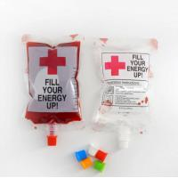 China Halloween blood pack spout pouches plastic blood packaging bag with cap on sale