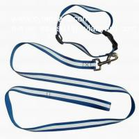 Wholesale Dye sublimation polyester lanyard dog collar and dog leash set, from china suppliers