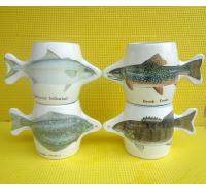Wholesale Export 9179 fish ceramic mug custom LOGO coffee mug mark cup from china suppliers