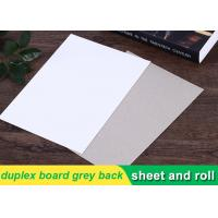 China 250g white duplex board Grey Back Duplex Board Paper For Printing Box on sale