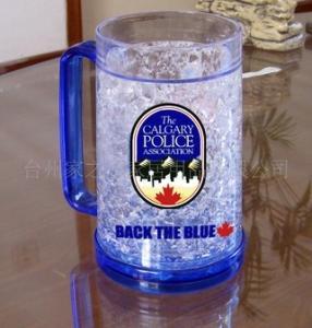 Wholesale plastic beer mug PS material beer mug custom LOGO ICE BEER MUG from china suppliers